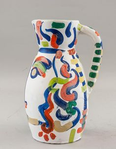 Buy online, view images and see past prices for PABLO PICASSO Spanish Ceramic Vase. Invaluable is the world's largest marketplace for art, antiques, and collectibles. Ceramic Painting, Ceramic Vase, Ceramic Pottery, Slab Pottery, Pablo Picasso, Guernica, Spanish Art, Wheel Thrown Pottery, Spanish Painters