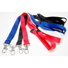 Quality Plain Ribbed Polyester Lanyard with Safety Break & Dog Clip Included. Branded Lanyards, Dog Clip, Conference, Promotion, Personalized Items, Gifts, Presents, Favors, Gift