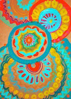 acrylic paints on a moleskin journal