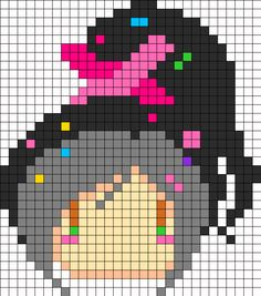 Vanellope Von Schweetz Perler Perler Bead Pattern | Bead Sprites | Characters Fuse Bead Patterns