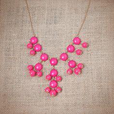 Fuschia Mini Bubble Necklace #jewelry #fashion #accessories
