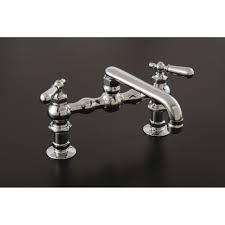 """Sign of The Crab Chrome Deck Mount Kitchen Faucet with 6"""" Spout P0832"""
