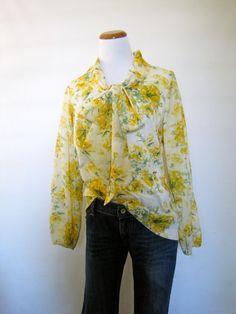 60's Sunshine Floral Blouse by pinebrookvintage on Etsy, $20.00