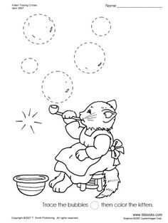 Freebie - Kitten Tracing Circle (plus other shapes) - Basic Fine Motors… Learning Activities, Preschool Activities, Tracing Lines, Motor Coordination, Kitten Images, Shapes Images, Free Printable Worksheets, Pre Writing, Circle Shape