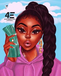 21 New Ideas For Baby Ilustration Art Beautiful Black Art Painting, Black Artwork, Black Love Art, Black Girl Art, Girl Cartoon Characters, Cartoon Art, Cartoon Edits, Drawings Of Black Girls, Black Girl Cartoon