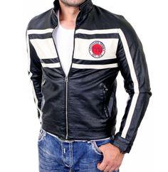check out 7c162 e9574 Lederjacken Marken, Herren Lederjacke Passt In Den Körper Zunehmend Sah  Schneidigen Und Sehr Cool,