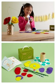 New Felt Flowers crate for Mothers Day from Kiwi Crate - great gift for mom or grandma ($12.95) Order Now