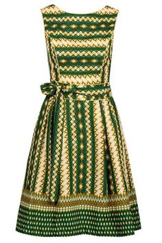 """Green Noh Nee dress """"Hannah"""" in African style"""