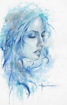 Beautiful Watercolor Paintings by Mekhz #watercolorarts