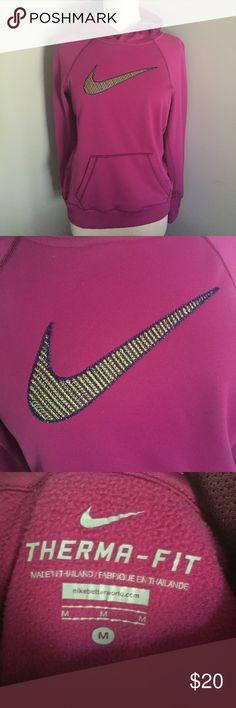 Nike Women's Hoodie Therma-fit, magenta, yellow, blue Nike Tops Sweatshirts & Hoodies