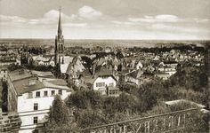 Panorama Wrzeszcza ze wzgórza Zinglera (Zinglershöhe).