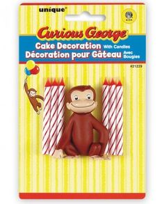 curious george stickers | ... Kits & Toppers - Curious George - Curious George Cake Topper
