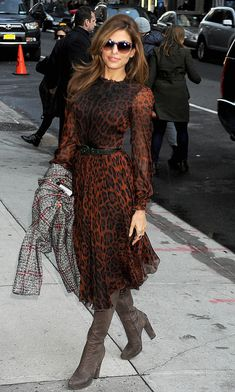 The animal print done right: Eva Mendes Style Evolution