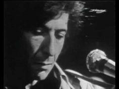 """Leonard Cohen """"The partisan"""" Live on french TV 1969 - Présenté par Joe Dassin"""