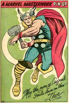 May the Eyes of Asgard Smile Down on Thee - Jack Kirby Comic Book Artists, Comic Book Characters, Comic Character, Comic Books Art, Comic Art, Marvel Comics Superheroes, Marvel Heroes, Thor Marvel, Jack Kirby Art