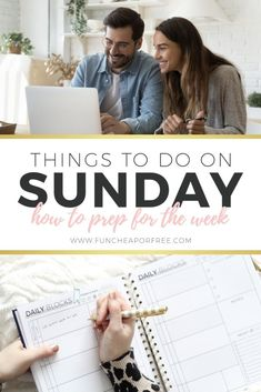 It's time to make your week more productive and less stressful! We've come up with the best things to do on a Sunday that will organize your week and make Monday go much smoother. Get excited for these simple tasks! Break A Habit, Survival Life Hacks, What Day Is It, Family Organizer, Sunday School Lessons, Write It Down, Best Blogs, Get Excited