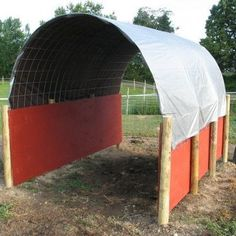 How to Build a Run-In Shelter for Horses, Cows, Goats, etc. This would be a great temporary shelter for the big field. I like the idea to store tractor implements Goat Shelter, Horse Shelter, Shelter Dogs, Horse Shed, Horse Barns, Horse Paddock, Horse Barn Plans, Shelter Architecture, Classical Architecture