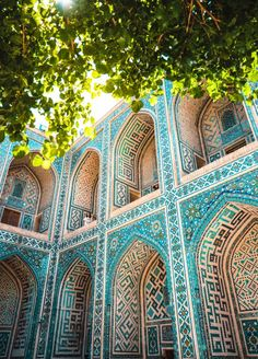 Samarkand – Treasure of the Silk Road in Uzbekistan Мы в Узбекистане. Persian Architecture, Beautiful Architecture, Art And Architecture, Places To Travel, Places To See, Travel Destinations, Belle Villa, Silk Road, Islamic Art