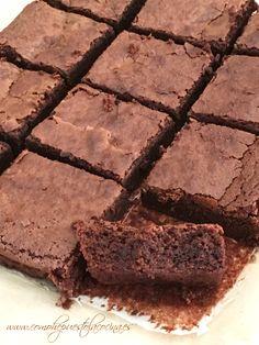 brownie-de-chocolate Fudge Brownies, Brownie Cookies, Chocolate Brownies, Chocolate Cookies, Pan Dulce, Love Chocolate, Cookies And Cream, Brownie Recipes, Bakery