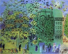 Raoul Dufy (1877-1953) painted with such élan and joy. He was a painter, designer of textiles (working with the great Paul Poiret), theatre, ceramics, furniture, public works, book covers and illustrations… Dufy's huge mural 'La Fée Electricité' or 'The Electricity Fairy', 1937 at the Musée d'Art Moderne in Paris, said to be the largest painting in...Read More