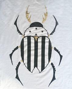 Handmade baby coverlet blanket for babies beetle by trickyforms