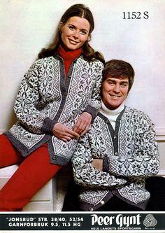 Jonsrud 1152 S Nordic Sweater, Ski Sweater, Knit Cardigan, Fair Isle Knitting, Knitting Yarn, Hand Knitting, Knitting Designs, Knitting Patterns, Norwegian Knitting