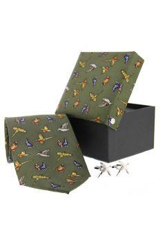 Soprano Green Pheasant Country Tie Cufflink www.ties-online.com/green-pheasant-country-tie-cufflink £34.95