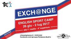 English Sport Camp Exch@nge Budrio 26/06-02/07/2017