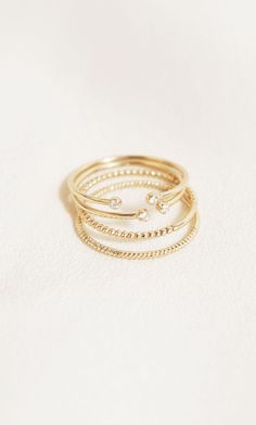 Oh so fine. 14k solid gold stackable rings with real diamonds by Mejuri. Fine jewelry, for everyday and forever.