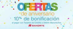 Amazon Mexico y Banorte 10% de bonificación en toda la tienda