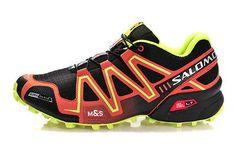 Men's Outdoor Hiking Shoes Salomon Speedcross 3 Athletic Running -Black/orange #turf #softball