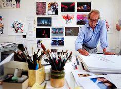 Portrait of the artist: Cartoonist Gerald Scarfe in his London studio