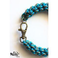 HOLO - bracelet macramé bleu