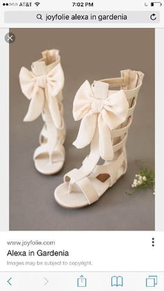 NEW In Box Joyfolie Alexa Gladiator Bow Sandals Girls Size 12 #Joyfolie