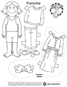 DIY Arthur papercraft play set. Print and play with Arthur, DW and Francine.
