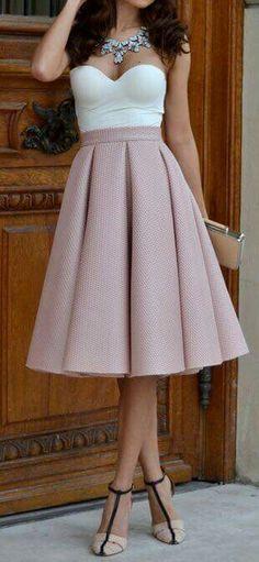 Falda rosa palo