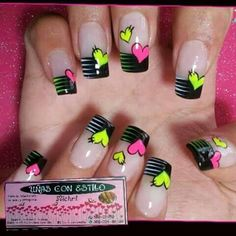 Learn how to create Easy Valentines Day Nail Art Designs - Heart Shaped Cute Nail Art, Cute Nails, Pretty Nails, Heart Nail Art, Heart Nails, Toe Nail Designs, Acrylic Nail Designs, Fancy Nails, Diy Nails