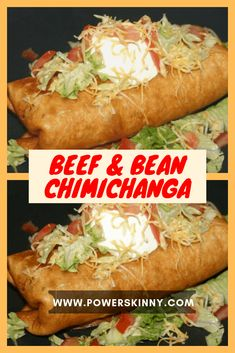 Beef & Bean Chimichanga – Page 2 – One Of Recipe – Food for Healty Mexican Dishes, Mexican Food Recipes, Beef Recipes, Cooking Recipes, Dinner Recipes, Easy Chimichanga Recipe, Shredded Beef Chimichanga Recipe, Enchiladas, Tacos
