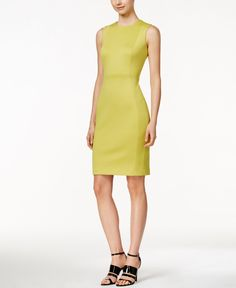 Calvin Klein Sleeveless Scuba Sheath Dress