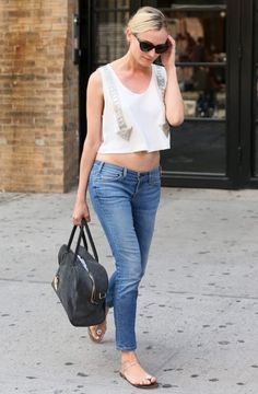After American socialite Olivia Palermo, Diane Kruger was seen showing off her NYC street style summer 2013 while heading to Serafina restaurant at SoHo in New York City.