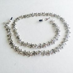 Silver Starfish Eyeglass Chain-Necklace