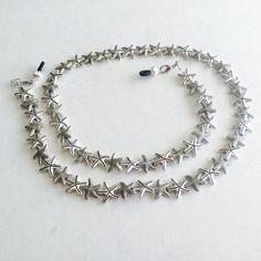 Silver Starfish Eyeglass Chain-Necklace