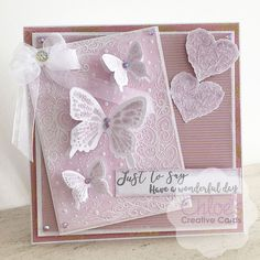 New In - Chloes Creative Cards - Chloes Creative Cards Chloes Creative Cards, Stamps By Chloe, Daisy Petals, Parchment Cards, Flower Stamp, Stamping Up Cards, Butterfly Cards, Card Designs, Embossing Folder