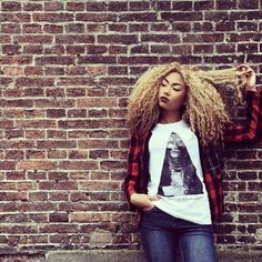 #Natural #ethnic #blond #afro
