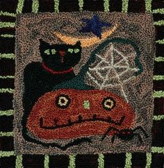 Threads That Bind Fall Portrait  (love the spider web on the pumpkin! Needle punched