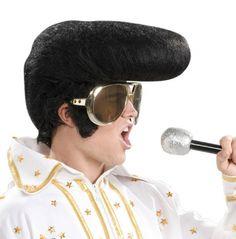 1950/'s Retro fnt Adult Mega Rock and Roll Wig Elvis