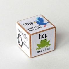 Animal Movement Activity Dice- For rainy days Movement Activities, Gross Motor Activities, Animal Activities, Gross Motor Skills, Learning Activities, Toddler Activities, Preschool Activities, Kids Learning, Day Care Activities