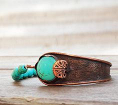 Mystic Turquoise Bracelet, Copper Bracelet, Turquoise Jewelry, Turquoise Cuff Bracelet, Blue - Copper Jewelry, Mothers Day Gift by mysticdukkan on Etsy https://www.etsy.com/listing/191507622/mystic-turquoise-bracelet-copper
