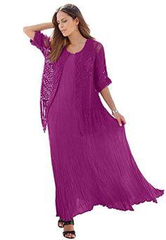 Fashion Bug Women's Plus Size Fringe Macrame Cardigan www.fashionbug.us #PlusSize #FashionBug #Sweater #Cardigan