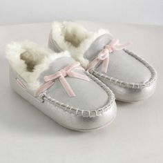 Sparkle Moccasin Slippers from The White Company